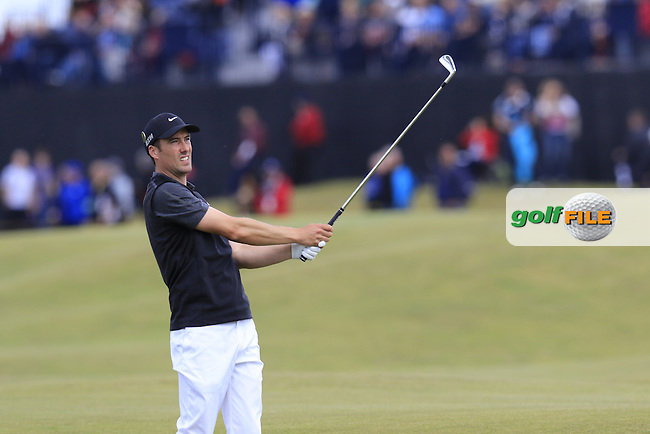 Ross FISHER (ENG) plays his 2nd shot on the 16th hole during Sunday's Round  of the 144th Open Championship, St Andrews Old Course, St Andrews, Fife, Scotland. 19/07/2015.<br /> Picture Eoin Clarke, www.golffile.ie