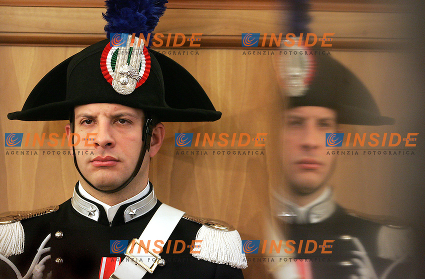 CARABINIERE<br /> Roma 17/02/2010 Apertura dell'Anno Giudiziario alla Corte dei Conti.<br /> Opening of the Judicial Year at the State audit Court.<br /> Photo Samantha Zucchi Insidefoto