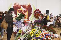 Roma, 7 Giugno  2012.Funerali di Carla Verbano, mamma di Valerio Verbano, ucciso dai fascisti nella sua abitazione nel 1980,
