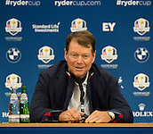 23.09.2014. Gleneagles, Auchterarder, Perthshire, Scotland.  The Ryder Cup.  Tom Watson USA Team Captain during his press conference.