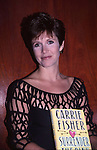 Carrie Fisher attends the book party for Carrie Fisher 'Surrender The Pink' on September 6, 1990 at Grolier Club in New York City.