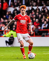 Nottingham Forest's defender Jack Colback (18) during the Sky Bet Championship match between Nottingham Forest and Derby County at the City Ground, Nottingham, England on 10 March 2018. Photo by Stephen Buckley / PRiME Media Images.
