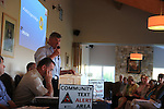 Community text alert meeting in Seapoint golf club<br /> Picture:  Fran Caffrey / www.newsfile.ie