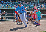 23 June 2019: New Hampshire Fisher Cats outfielder Forrest Wall takes the field prior to a game against the Trenton Thunder at Northeast Delta Dental Stadium in Manchester, NH. The Thunder defeated the Fisher Cats 5-2 in Eastern League play. Mandatory Credit: Ed Wolfstein Photo *** RAW (NEF) Image File Available ***