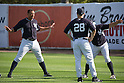 Alex Rodriguez Joe Girardi (Yankees),<br /> MARCH 4, 2015 - MLB : Alex Rodriguez (L) of the New York Yankees and manager Joe Girardi (28) are seen during their Major League Baseball spring training at George M. Steinbrenner Field in Tampa, Florida, United States. (Photo by Thomas Anderson/AFLO) (JAPANESE NEWSPAPER OUT)