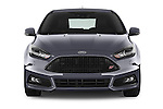 Car photography straight front view of a 2015 Ford Focus St 5 Door Hatchback Front View