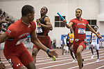 COLLEGE STATION, TX - MARCH 11: Andrew Hudson of Texas Tech passes the baton in the men's 4x400 meter relay during the Division I Men's and Women's Indoor Track & Field Championship held at the Gilliam Indoor Track Stadium on the Texas A&M University campus on March 11, 2017 in College Station, Texas. (Photo by Michael Starghill/NCAA Photos/NCAA Photos via Getty Images)