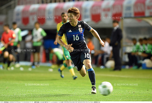 Takuma Asano (JPN),<br /> JUNE 29, 2016 - Football / Soccer :<br /> Kirin Challenge Cup 2016 match between U-23 Japan 4-1 U-23 South Africa at Matsumotodaira Park Stadium Alwin in Nagano, Japan. (Photo by Takamoto Tokuhara/AFLO)