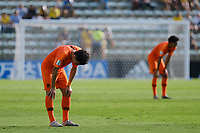 17th November 2019; Bezerrao Stadium, Brasilia, Distrito Federal, Brazil; FIFA U-17 World Cup football 3rd placed game 2019, Netherlands versus France; Mohamed Taabouni of Netherlands laments defeat after the match<br />  - Editorial Use