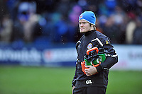 First Team Junior Strength & Conditioning Coach Guy Lewis looks on during the pre-match warm-up. Amlin Challenge Cup match, between Bath Rugby and Agen on January 12, 2013 at the Recreation Ground in Bath, England. Photo by: Patrick Khachfe / Onside Images
