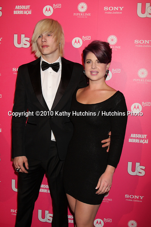 Kelly Osbourne with (l) Luke Worrall.arrives at the US Weekly Hot Hollywood Party 2010.Drai's at the W Hotel Hollywood.Los Angeles, CA.April 22, 2010.©2010 Kathy Hutchins / Hutchins Photo...
