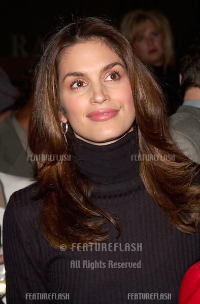 Model/actress CINDY CRAWFORD at the Cable TV Assoc Western Show in Los Angeles where she helped to launch the Womens Entertainment channel - formerly Romance Classics TV..29SEP2000.  © Paul Smith / Featureflash