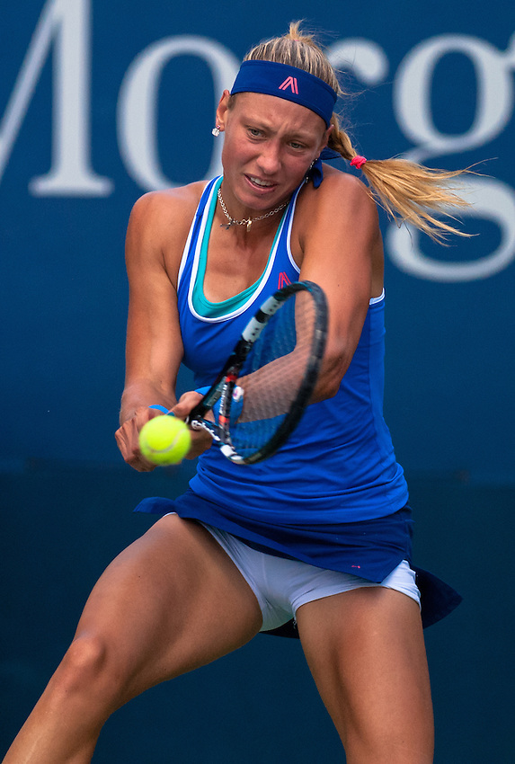 NEW YORK, NY - August 27, 2013: Yanina Wickmayer (BEL) during her first round single's match at the 2013 US Open in New York, NY on Monday, August 26, 2013.g