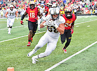 College Park, MD - OCT 1, 2016: Purdue Boilermakers tight end Cole Herdman (88) scores Purdue's lone touchdown late in the fourth quarter during game between Maryland and Purdue at Capital One Field at Maryland Stadium in College Park, MD. The Terps got the win 50-7 over visiting Purdue. (Photo by Phil Peters/Media Images International)