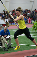 Missouri Southern senior and Linn High School graduate Melanie Bower makes an attempt on her way to a runner-up finish in the pole vault at the NCAA Division II Indoor Track and Field Championships, Friday, in Pittsburg, Ks. Bower cleared 13-1.75