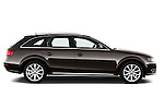 Passenger side profile view of a 2011 Audi A4 Allroad Quattro 2.0l TDI 5 Door Wagon