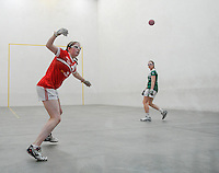 20th September 2014; Catriona Casey of Cork in action during the M Donnelly All-Ireland Ladies 60x30 Handball Singes Final<br /> Catriona Casey (Cork) v Martina McMahon (Limerick) . <br /> Abbeylara, Co Longford<br /> Picture credit: Tommy Grealy/actionshots.ie