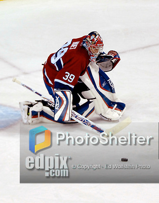 23 October 2006: Montreal Canadiens goalie Cristobal Huet in action against the Buffalo Sabres at the Bell Centre in Montreal, Canada on October 23, 2006. The Sabres defeated the Canadiens 4-1. Mandatory photo credit: Ed Wolfstein Photo.<br />  *** Editorial Sales through Icon Sports Media *** www.iconsportsmedia.com