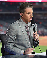 HOUSTON - OCTOBER 22: Kevin Burkhardt at World Series Game 1: Washington Nationals at Houston Astros on Fox Sports at Minute Maid Park on October 22, 2019 in Houston, Texas. (Photo by Frank Micelotta/Fox Sports/PictureGroup)