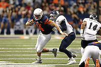 SAN ANTONIO, TX - NOVEMBER 21, 2015: The University of Texas at San Antonio Roadrunners defeat the Rice University Owls 34-24 in the Alamodome. (Photo by Jeff Huehn)
