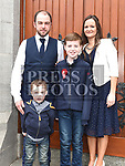 Kyle Kierans who was confirmed at The Church of the Immaculate Conception Termonfeckin pictured with parents P.J. and Susan and brother Conor. Photo:Colin Bell/pressphotos.ie