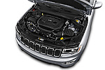 Car Stock 2017 JEEP Grand-Cherokee Laredo 5 Door SUV Engine  high angle detail view