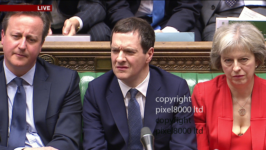Pic shows: Budget 2016<br /> George Osborne reacts with pain to criticism of his forecasts<br /> <br /> <br /> <br /> Picture by Pixel8000 07917221968