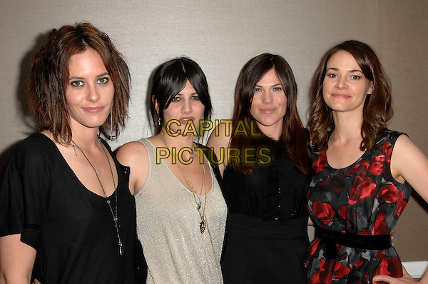 KATHERINE MOENNIG, CAMILLA GREY, GUEST & LEISHA HAILEY.L.A. Gay & Lebian Center Presents 'An Evening with Women' held At The Beverly Hilton Hotel, Beverly Hills, California, USA..** EXCLUSIVE**.half length black beige red top dress.CAP/ADM/KB.©Kevan Brooks/AdMedia/Capital Pictures.