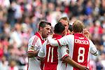 Nederland, AMsterdam, 1 April 2012.Eredivisie.Seizoen 2011-2012.Ajax-Heracles.Theo Janssen van Ajax juicht na het scoren van de 1-0