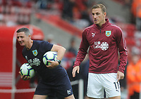 Burnley's Chris Wood during the pre-match warm-up <br /> <br /> Photographer Kevin Barnes/CameraSport<br /> <br /> The Premier League - Southampton v Burnley - Sunday August 12th 2018 - St Mary's Stadium - Southampton<br /> <br /> World Copyright &copy; 2018 CameraSport. All rights reserved. 43 Linden Ave. Countesthorpe. Leicester. England. LE8 5PG - Tel: +44 (0) 116 277 4147 - admin@camerasport.com - www.camerasport.com