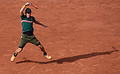 7th June 2017, Roland Garros, Paris, France; French Open tennis championships;  Kei Nishikori (Japan) during his 4 set loss to Andy Murray (GBR)