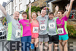 George Glover and Joan Glover (Castleisland) Marie Hickey (Knocknagoshel) Fred O'Connell (Killarney) Michael Donovan (Castleisand) and Anne O'Leary (Currow), pictured at the Rose of Tralee 10k on Sunday morning last.