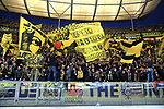 16.03.2019, OLympiastadion, Berlin, GER, DFL, 1.FBL, Hertha BSC VS. Borussia Dortmund, <br /> DFL  regulations prohibit any use of photographs as image sequences and/or quasi-video<br /> <br /> im Bild Dortmunder Fans<br /> <br />       <br /> Foto &copy; nordphoto / Engler