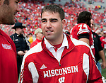 Wisconsin Badgers Director of Football Operations Mark Taurasani during an NCAA college football game against the Austin Peay Governors on September 25, 2010 at Camp Randall Stadium in Madison, Wisconsin. The Badgers beat the Governors 70-3. (Photo by David Stluka)