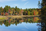 Pawtuckaway State Park- Burnham's Marsh in Nottingham, New Hampshire, USA during the autumn months