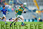 Brian Friel Kerry in action against Danny Cusack Cavan in the All Ireland Minor Semi Final in Croke Park on Sunday.