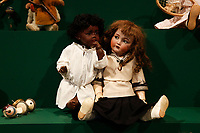 A 400 pcs collection of antique dolls from the 18th to the 19th century, among them famous names like Jumot, Marseille, Lenci, Rheinische Gummi, Steiff, Kruse, made of different materials, as porcelain, bisque, fabric, celluloid and composites.<br /> Antique toys exposed at Palazzo Braschi during the Exhibition 'For fun. Collection of antique toys of Capitoline Superintendency'.<br /> Rome (Italy), July 24th 2020<br /> Foto Samantha Zucchi Insidefoto
