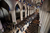 Visitors gather before a State Funeral for former President George H.W. Bush at the National Cathedral, Wednesday, Dec. 5, 2018,  in Washington. <br /> Credit: Andrew Harnik / Pool via CNP
