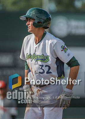 31 July 2016: Vermont Lake Monsters infielder Luke Persico in action against the Connecticut Tigers at Centennial Field in Burlington, Vermont. The Lake Monsters edged out the Tigers 4-3 in NY Penn League action.  Mandatory Credit: Ed Wolfstein Photo *** RAW (NEF) Image File Available ***