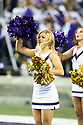 SEATTLE, WA - September 22:  Washington cheerleader Hannah Alonzo entertained fans during the college football game between the Washington Huskies and the Arizona State Sun Devils on September 22, 2018 at Husky Stadium in Seattle, WA. Washington won 27-20 over Arizona State.