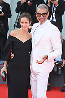 VENICE, ITALY - AUGUST 30: American actor Jeff Goldblum and Canadian dancer Emilie Livingston attend the screening of The Mountain during the 75th Venice Film Festival at Sala Grande on August 30, 2018 in Venice, Italy.<br /> CAP/BEL<br /> &copy;BEL/Capital Pictures