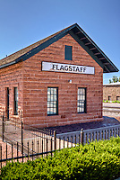 Historic train depot in Flagstaff Arizona on Route 66.