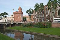Le Castillet. Perpignan, Roussillon, France.