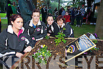 Sinead Connolly, Catriona Locke, Tara O'Sullivan and Moira O'Sullivan pictured on Monday at the remembrance ceremony organised by the Open Arms Project in Pearse Park, Tralee..