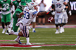Southern Methodist Mustangs tight end Kylen Granson (83) in action during the game between the UNT Mean Green and the SMU Mustangs at the Gerald J. Ford Stadium in Fort Worth, Texas.