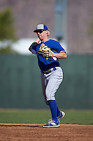 Kansas City Royals Travis Maezes (13) during an instructional league game against the San Francisco Giants on October 23, 2015 at the Papago Baseball Facility in Phoenix, Arizona.  (Mike Janes/Four Seam Images)