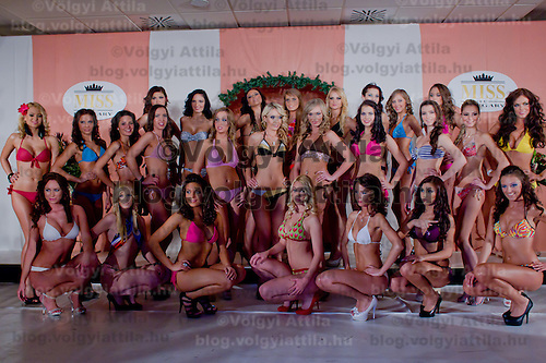 Miss Hungary beauty contest held in Budapest, Hungary on December 29, 2011. ATTILA VOLGYI