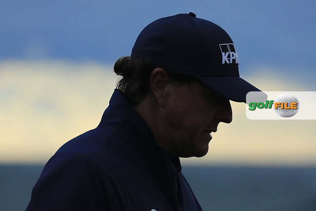 Phil Mickelson (USA) in action at Pebble Beach Golf Links during the third round of the AT&amp;T Pro-Am, Pebble Beach Golf Links, Monterey, USA. 09/02/2019<br /> Picture: Golffile | Phil Inglis<br /> <br /> <br /> All photo usage must carry mandatory copyright credit (&copy; Golffile | Phil Inglis)