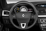 Renault Megane 2010 Coupe Convertible Steering wheel view Stock Photo