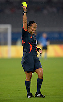 Jenny Palmqvist. The USWNT defeated Canada in extra time, 2-1, during the 2008 Beijing Olympics in Shanghai, China.
